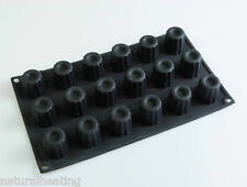 18 Fluted Mini Canele / Cannele Silicone Bakeware Mould Chocolate Mold Bordelais