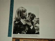 Original Vintage Candid Britt Ekland on set with her Dog in Austria Press Photo
