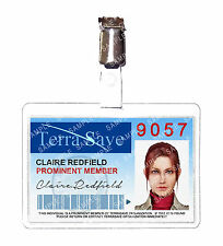 Resident Evil Claire Redfield Terrasave ID Badge Cosplay Costume Prop Christmas
