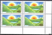BUND 1052 ** Naturschutz, Eckrand-Viererblock,  einwandfrei postfrisch