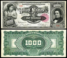 CRISP UNC. 1891 $1,000 SILVER CERTIFICATE COPY! READ DESCRIPTION