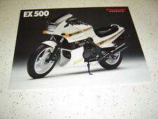 1  1989 Kawasaki EX500 Brochure  NOS. 2 Pages.