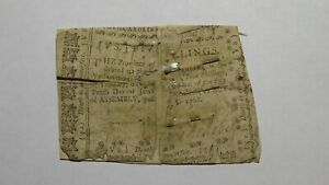 1768 Five Shillings North Carolina NC Colonial Currency Note Bill RARE 5s USA