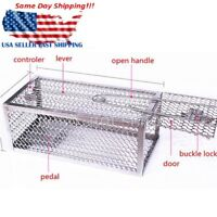 One Door Animal Trap Steel Cage for Small Live Rodent Control Rat Mice  US A