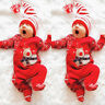 Christmas Newborn Infant Baby Boy Girls Deer Romper Jumpsuit Outfits Clothes Hot