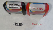 PAID & THANK YOU stamp USED FREE SHIP 1 LEFT