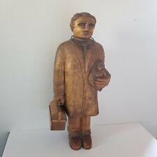 "ART TATKOSKI Wood Carved Albuqueque New Mexico Doctor Folk Statue SW Country 24"""
