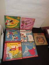 7 OLD CHILD RECORDS CINDERELLA GOLDILOCKS SLEEPING BEAUTY LITTLE RED RIDING HOOD