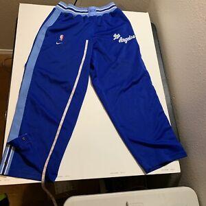 Los Angeles LA LAKERS Warm Up Pants Nike L Throwback Rewind Blue Basketball NBA