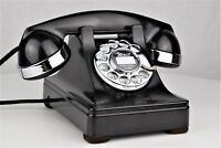 Vintage Antique Western Electric 302 Rotary Dial Telephone w/ Chrome Trim Works!