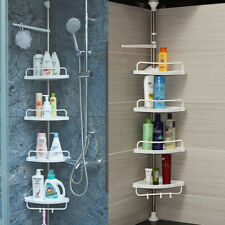 No Rust Bathroom Telescopic Corner Shelf Storage 4tier Shower Caddy Organiser SE
