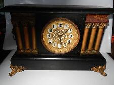 Antique Sessions Black Mantle Clock