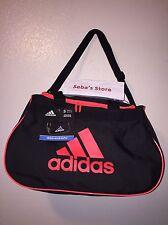 Adidas Diablo II Gear Small Gym Travel All Sports Gear Duffle Bag Black/Infrared
