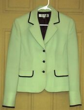 Tahari by Arthur S. Levine Ladies Lined Jacket ~ Navy Sage ~ Size 4