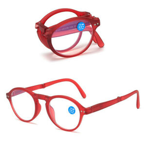 Folding Reading Glasses Blue Light Blocking Pocket Reader With Box 1.0 ~ 4.0 B