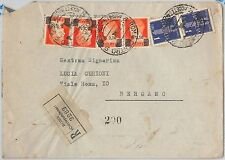 54039  - ITALIA LUOGOTENENZA / REGNO - Storia Postale:  BUSTA RACCOMANDATA 1945