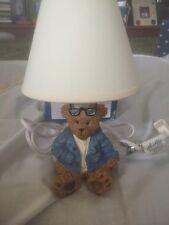 Ceramic Bear Lamp Abiding Bear Denim Bear Young's Inc