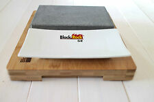Hot Stone Cooking Steak on the Stone Black Rock Grill Set Lava Sizzling Plate