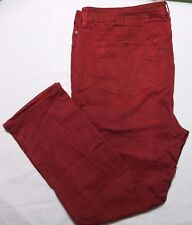 NYDJ Not Your Daughters Jeans Dark Red Skinny Leg Distressed Plus 20W