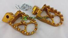 Pedane maggiorate alluminio CNC KTM SXF250 EXC F 250 SX F 350 color ORO