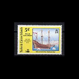 Turks & Caicos, Sc #883, MNH, 1991, Ship, Henry Hudson, FFD-9