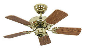 Ceiling fan with Pull chain Indoor fan without lights Classic Royal Glossy Brass