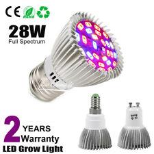 28W E27/GU10 E14 Led Grow Light Lâmpada Para Plantas hidropônico Full Spectrum 85-265V