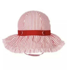 Gymboree Sun Hat Nautical Sailor Red White 18-24 Months Toddler Baby Girl New