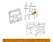 TOYOTA OEM 07-14 FJ Cruiser Back Door-Finish Molding Right 7581535012