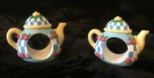 Mary Engelbreit Set of 2 Teapot Napkin Rings