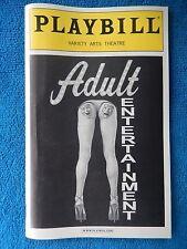 Adult Entertainment - Variety Arts Playbill - January 11th, 2003 - Danny Aiello