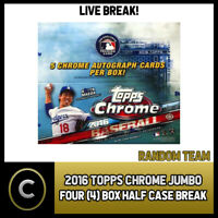 2016 TOPPS CHROME BASEBALL JUMBO 4 BOX (HALF CASE) BREAK #A770 - RANDOM TEAMS