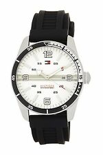 Tommy Hilfiger Stainless Steel Noah Rubber Strap Watch 1790919 New In Box $120