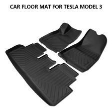 Car Floor Mats Durable 3D Auto Mat All Weather For Tesla Model 3 2017 2018 2019
