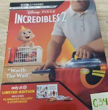 � Disney Incredibles 2 4K Uhd Blu-ray Digital Target Exclusive Digipak slip New