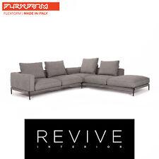 Flexform Romeo Stoff Ecksofa Grau Sofa Couch #13740