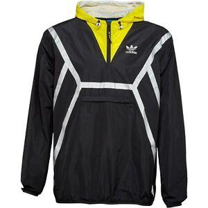 adidas Originals Mens ZX Half Zip Cagoule Black/Yellow