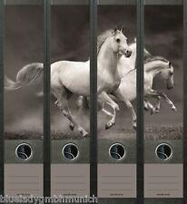 File Art 4x Ordner-Etiketten ● WHITE HORSES ● RÜCKENSCHILDER Sticker 465