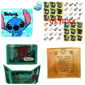 Japan Anime Wallet Death Note Black Cat Mens Shugo Chara Strike Witches Stitch