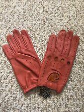 Men's Driving Cognac Leather Gloves  Size Large !!!