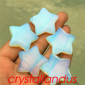 5pc Opalite star pendant quartz crystal pentagram pendant reiki healing