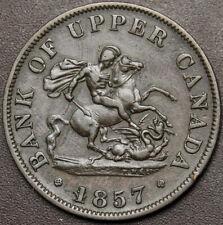 Canada Bank of Upper Canada Half Penny Token 1857 Br720 PC-5D  #170535