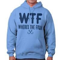 WTF Wheres The Fish Fishing Hobby Angler Gift Hooded Sweatshirts Hoodies For Men