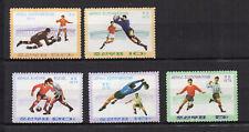 FOOTBALL Corée du N 1975 Y&T N°1283 à 1287 5 timbres neufs sans charnière /T4084