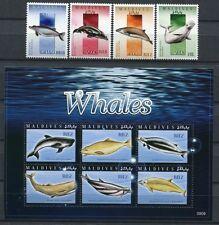 Malediven Maldives 2009 Wale Whales Meeressäugetiere 4753-4762 MNH