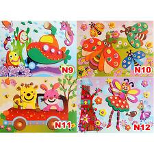 3D DIY EVA Crafts Foam Puzzle Stickers for Toy Art Gift f Kids Pattern Random