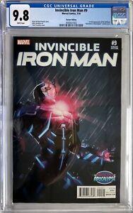 Invincible Iron Man #9 Turcotte Variant Cover CGC 9.8 1st Full Riri Williams