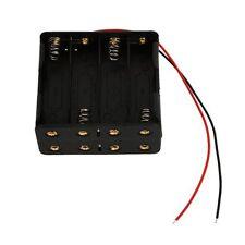 Schwarzer Batteriehalter fuer 8 Stk. AA Batterien(12v) GY