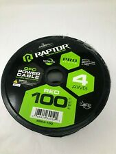 Raptor R5R4-100 Pro Series 100' 4-AWG Red OFC Power Cable Oxygen Free Copper