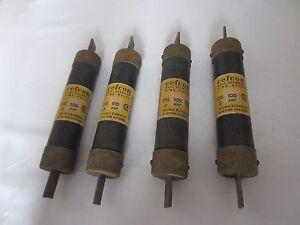 Lot De 4 Cefcon CRS100 Fusibles 100A 100 Amp Testé